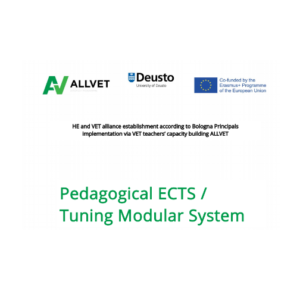 The online training 'Pedagogical ECTS/ Tuning modular system' started